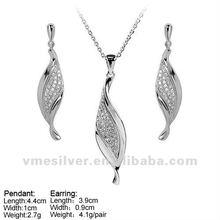 925 Silver Jewelry, Hot Sale Silver Jewelry Sets, silver S jewlery set with Micro Pave CZ