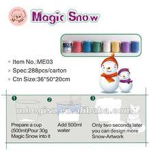 polvere di neve artificiale per la decorazione di natale