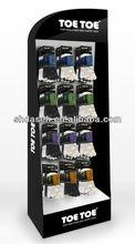 hooks cardboard pop display,hook paper display stand,hook floor display racks