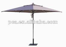2012 leisure outdoor 8pcs ribs square aluminum umbrella