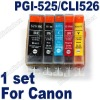 NON-OEM Ink Cartridge Canon PGI-525 CLI-526 IP4820