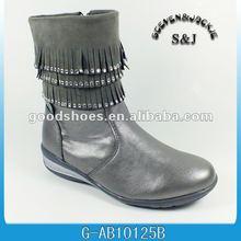 newest children shoe 2012 silver