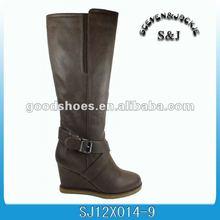 S&J sheepskin wedge boots