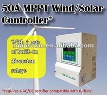 50a 12v 24v 48v controlador solar da carga controlador híbrido solar controlador de carga