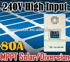 80A high voltage input 240V 12v 24v 48v MPPT solar charge controller solar controller