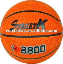 Rubber Basketball/sponge rubber /deep channels/embossed