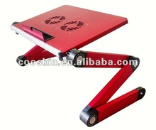 Aluminium alloy laptop bed table for different model of laptop/notebook