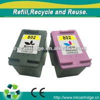Compatible refill Ink cartridge for hp 802