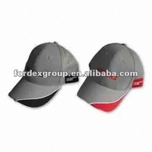 2012 high quality cotton twill golf hats with embroidery on front and side
