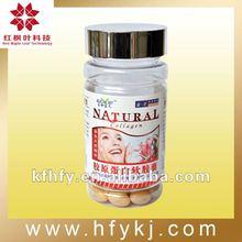 Natural Collagen softgel capsules for skin whitening