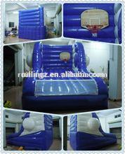 indoor inflatable baskeball shooting games equipment
