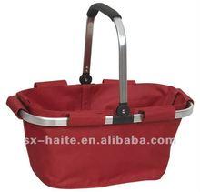 folding shopping basket for vegetable or picnicMarket toteSupermarket cart bag(Eco-friendly,fashion)