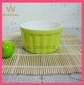 De cerámica de colores ramekin para el hogar, torta de la taza, ramekin plato