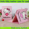 Tablet case cover Hello Kitty folio smart leather case for Ipad 2 3 4