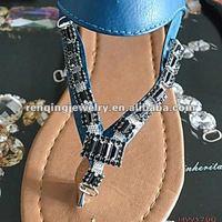2012 fashion shoe chain with rhinestone acrylic