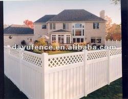 Plastic lattice fence