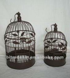 2/s circular hanging metal bird cage