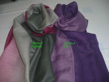 pashmina gradation shawl scarf in solid colour