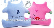 sweet stuffed plush couple cushion for lovers