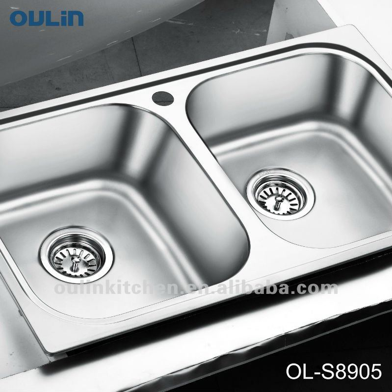 Oulin Indian Kitchen Design Kitchen Sink Stainless Steel Bowl (ol ...