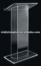 Modern and Clear Acrylic Church Rostrum Acrylic Lectern Acrylic Platform Plexiglass Dais