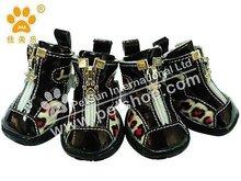 New fashion JML Dog Shoes for big dogs Xb1125 ,black Leopard
