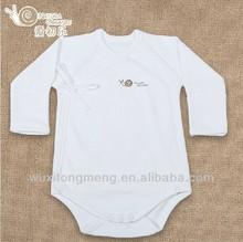 Comfortable baby interlock bodysuits plain white