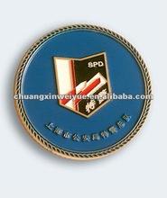 cheap round custom coin for police CC581