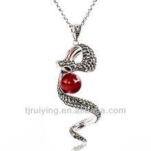 fashion sterling silver charm pendant snake