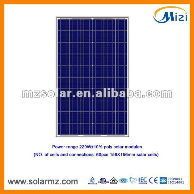 220W polycrystalline solar panel high-effeciency with CE,ROSH, TUV, UL, ISO9001