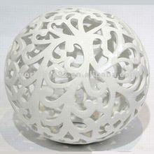 XG2908 Hollow white porcelain ball ornament