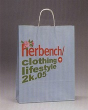 nice kraft paper bag for clothes lady
