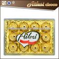 Agradable en chocolate caja de regalo cuadrados( 150g)