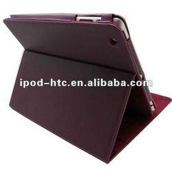 PU Leather Case for iPad 4 /3/2+sleep/wake feature