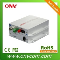 1 Channel Video Fiber Optic Transmitter and receiver applied in video image audio data ethernet telephone system