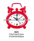 2013 Red Metal Bell Double Table Clock (gift clock)