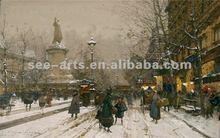 high quality new designed paris street scene oil painting