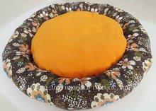 flower printed circle dog bed/pet bed