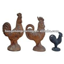 cast iron statue/cock statue