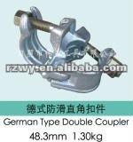 Drop Forged German Type BS1139 Scaffolding Double/Swivel Couplers