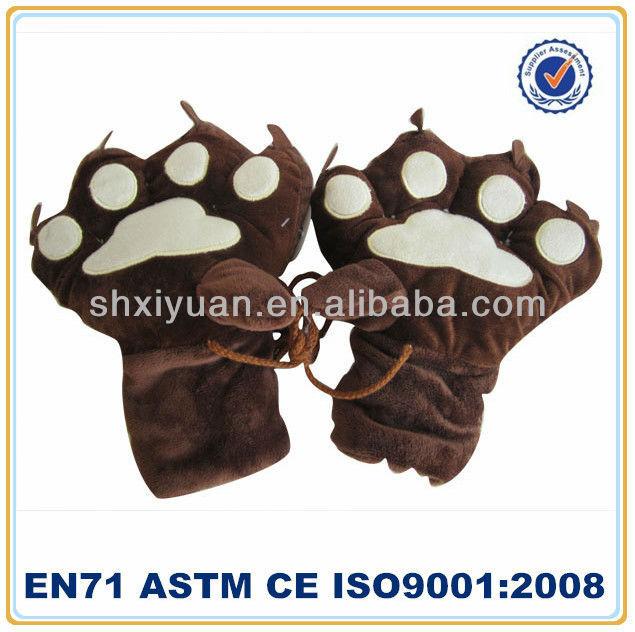 Lovely paw plush gloves