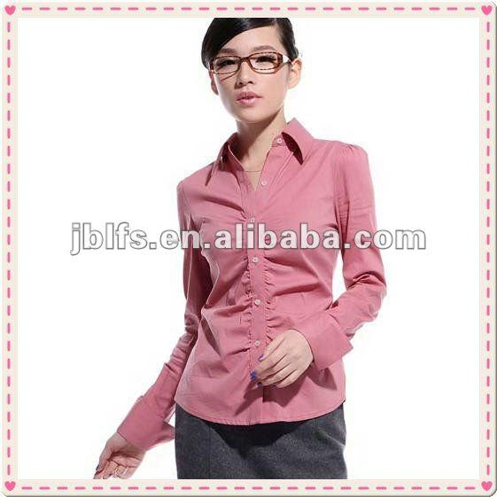 Design para blusas formais manga longa blusa de trabalho