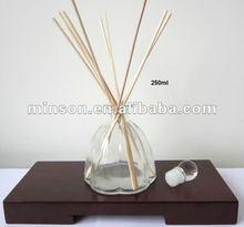 aroma reed difusor frasco de vidro com tampa para purificadores de ar