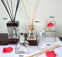 Vários garrafa de vidro purificador de ar para casa fragrância cana difusor