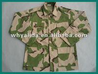 Nigeria Army BDU 3 Colored Desert Camo Combat Uniform With Cap