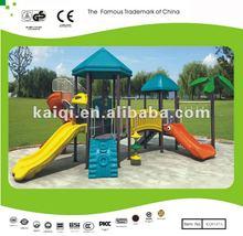 Kindergarten Children Playground Equipment Nature Playset Three slides and climber 32ftx18.4ftx13.4ft