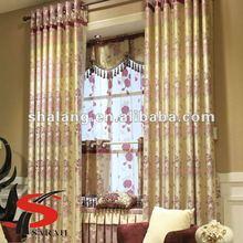 SHALANG A&B coordinate 100% polyester jacquard organza elegant sheer curtains