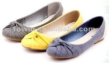 Grey Green/Yellow/Denim Women flat shoes 2012