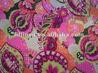 printed linen cotton fabric
