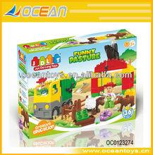 36pcs Funny pasture plastic building blocks toy farm OC0123274